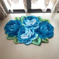 Carpets Arrival Romantic Red Rose Flocking Rug Mats For Living Room bathroom bedroom wedding Carpet Handmade Top Quality Floor Rugs