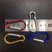 7 Colore B / D-Ring Carabiner Anello Portachiavi Keyrings Key Catena Camp Snap clip Gancio Portachiavi Escursionismo in alluminio in metallo in acciaio inox Camping 2 x2