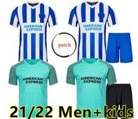21 22 BLOVE ALBION 2021 2022 Fussball Jerseys Startseite Maupay Lallana Dunk Connolly Football Hemd Trossard Männer + Kinder Jersey Uniformen