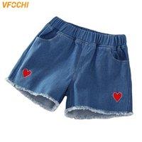 Pantalones cortos Vfochi Girl Denim 3-14Y Pantalones para niños Summer Niños Ropa Girls Playa Casual Adolescente Jeans