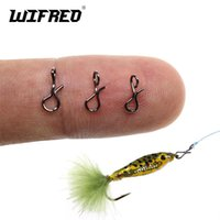 Fishing Hooks Wifreo 100PCS Snap Quick Change Connect For Flies Hook & Lures Bait Black Color High Carbon Steel