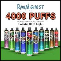Original Randm Ghost-Einweg-Pod-Gerät-Kit E-Zigaretten 4000 Puffs 1000mAh-Wiederaufladbare Batterie Vorgefüllt 8ML-Patrone Vape-Stift vs Dazzle Pro 100% authentisch