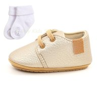 First Walkers Fashion Baby Girls Gold PU Leather Shoes Soft-sole Moccassins Toddler With Socks Borns Sneakers From 0 To 18M