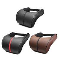 Seat Cushions PU Leather Auto Car Neck Pillow Memory Foam Rest Headrest Cushion Pad High Quality Guard