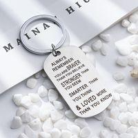Anello a catena chiave in acciaio inox Sei più forte più intelligente di quanto tu pensi il portachiavi del pendente per l'amante della famiglia Amante Regalo-Z 227 R2