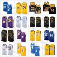 "Los Lebron 23 James Anthony 3 Davis Basquetebol Angeles ""Lakers"" Jersey 33 Kyle 0 Kuzma Alex 4 Caruso Mission Lower 2021 Novo"