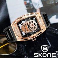 디자이너 시계 브랜드 시계 럭셔리 시계 군사 Wateproof 뼈대 손목 실리콘 발광 Quartz Skone 5146-1