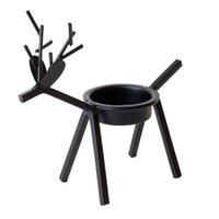 Tenedor de velas Reindeer Tealight Metal Candlestick Light Stands Soporte Adornos de Titular Regalo de Navidad Craft para la decoración del hogar
