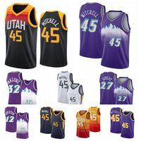 Utah.JazzMens 43 Siakam Pascal Jersey 15 Carter Vince Donovan 45 Mitchell John Karl 12 Stockton 32 Malone Basketball Jerseys