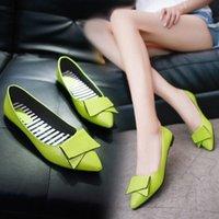 2020 printemps nouvelles chaussures simples chaussures femme chaussures pointues bouche peu profonde talon plat talon plat noeud papillon grand taille noir de grande taille travail au travail sh g0gt #