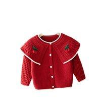 Tjejer cardigan barn rockar baby ytterkläder bomull virka stickmönster barn tröja höst vinter kläder jackor toppar kläder söt b8636
