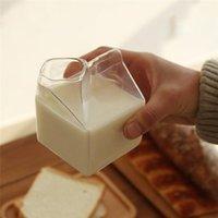 Wine Glasses 1 Piece 250ML Half Pint Milk Carton Style Creative Mini Creamer Jug Glass Mug