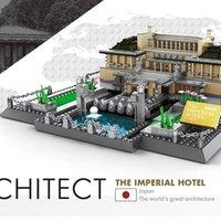 1375 pcs building blocks Japan Imperial Hotel Of Tokyo model world famous city architecture diy bricks assembling kid house model gifts 04