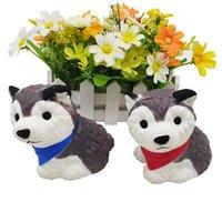 Toys de descompresión Lento Rise Rising Squishy Puppy Dog Squeeze Husky Dogs Jumbo Equientado Animales de dibujos animados Alivie el estrés Ansiedad Juguete