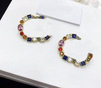 Colors Earrings for Woman Fashion Earrings Vintage Earrings High Quality Brass Fashion Jewelry Supply Accessories