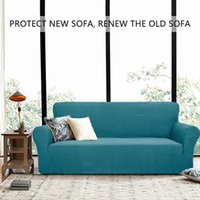 Cushion Decorative Pillow Multiple Seat Solid Square Pattern Sofa Protective Cover High Elasticity Soft Indoor Home Cafe Decoration Multicol