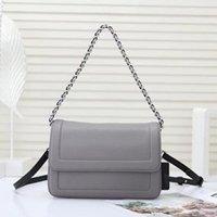 U3KF Two Leather Belt Fashion Quality Bag High Shoulder Women Cross-Body Juan551806 Flap Handbags Grey Chains Kidlf
