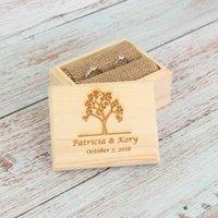 8cmx6cmx10cm Custom Ring Ring Ring Ring Box Personalizzato Box Body Box Box Supporto in legno Rustico Bomboniere e Regali