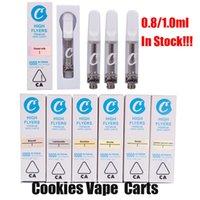 Cookies Тележки Vape распылитель картриджи 0,8 мл 1 мл пустой керамический катушка корзина испарители толстые масляные бак упаковки для 510 потоков батарейки