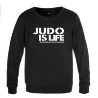 Новый креативный круглый шеи свитер мужской с длинным рукавом повседневная пуловер дзюдо жизни