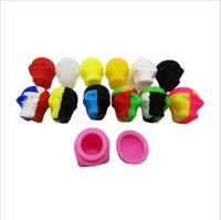 3ml Skull Head Wax Oil Container Box Dab Non-stick Silicone Jar silicon Tin Oil Storage Container Holder Tool