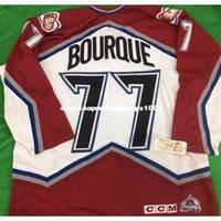 CCM personalizzato 90 ccm a buon mercato Colorado Avalanche Ray Bourque Jerseys Mens Personalized Stitching Jerseys