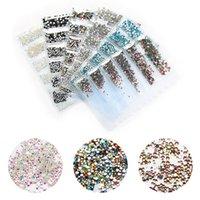 1 Paket Bling Kristal Parlak Rhinestone Manikür Aksesuarları Çivi Sanat Salon Süslemeleri için Çok Boyutlu Cam Tırnak Rhinestones