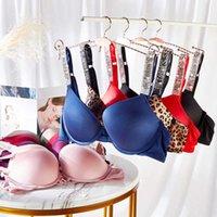 VS Rhinestone Underwear Women Set Brand Design Sexy Lingerie Set Seamless Push UP Briefs Bra Sets Plus Size Red Pink Bra Y0911