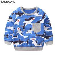 Designer Fashion children's clothing designer SAILEROAD 2-7Year Animal Shark Child Pullover Sweater Autumn Spring a Little Boys Long Sleeve