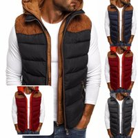 Men's Vests Winter Vest Soft Zipper Down Hooded Waistcoat Cardigan Casual