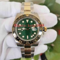 Top Quality men watch Wristwatches BP Maker 2813 Movement 40mm 116718 Green dial Two tones Gold & Steel Ceramic Mechanical Automatic Mens Watches