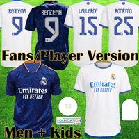 21 22 real madrid maglia Versione giocatore maglie da calcio Real HAZARD JOVIC MILITAO camiseta 2020 2021 2022 VINICIUS ASENSIO player version maglia da calcio per bambini