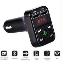 B2 Bluetooth FM-передатчик Автомобильный комплект MP3-плеер TF Flash Music USB Зарядное устройство Dual USB Зарядное устройство Handsfree FM Модулятор Поддержка TF Card