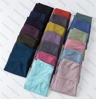 21SS Donne che modellano i pantaloni di yoga dei pantaloni ad alta vita allineano le leggings Lempings Sport di Limone Gym Legging Legging Elastico Fitness Complessivamente Pieno Collant Summer Wear Wear Wear