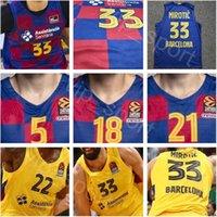 Basketball Kits Lassa Ricky Rubio Jersey Nikola Mirotic Victor Claver Leandro Bolmaro Higgins Tomic Artem Pustovyi Marc Gasol Euroleague