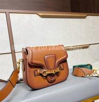 Frauen Designer 2021 SS Joker Mode Handtaschen Ebene Retro Hardware Rindsleder Klassische Button Satteltaschen Kontraktierte Kreuzkörper Umhängetasche