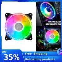 MF120 4-PIN PWM Ventola di raffreddamento Addreable RGB Illuminazione RGB ARGB Ventola silenziosa per chassis PC Case Acqua Accessori per raffreddamento ad acqua