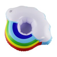 Yaz Bulut Kupası Tutucu Gökkuşağı Şişme Su Coaster Yüzer İçecek Bardak Tutucu Yüzme Havuzu Hava Yatak 3259 Q2 için İçecek Tutucu