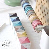 Gift Wrap 4 Rollen / Doos Decoratieve Washi Maskering Tape Set Herfst Kleurpapier Tapes Japanse DIY Scrapbooking Sticker