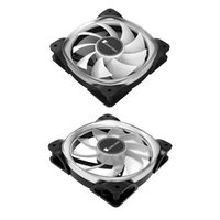 Fans & Coolings Jonsbo FR-701 ARGB LED PC Case Fan 120mm 9 Blade Addressable RGB Lighting PWM Chassis Cooling