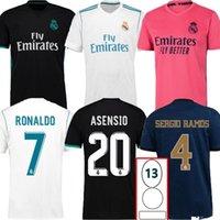 패치와 함께 2017 2018 2019 2020 레트로 레알 마드리드 축구 유니폼 17 18 19 20 베일 벤제마 모드 크로스 축구 셔츠 빈티지 ISCO Sergio Ramos Ronaldo