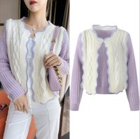 730 2021 Summer Brand Same Style Regular Long Sleeve Crew Neck Cardigan Kint Sweater Women Clothes YL