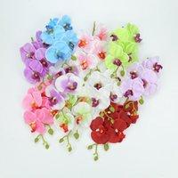 Decorative Flowers & Wreaths Artificial Butterfly Orchid Bouquet Fake Plants Vase For Home Wedding Decoration Ornamental Flowerpot Silk Stri