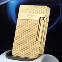 ST lighter Bright Sound Gift with Adapter luxury men accessories gold color Triangle 8