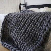 Blankets Knitted Blanket Weaving Mat Throw Chair Decor Warm Yarn Home For Pography Sofa