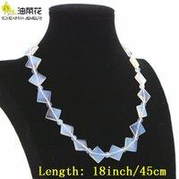 Moda encanto de alta calidad piedra natural 15 estilos sri lanka luna opal cristal collar cadena mujer niña navidad regalo de boda haciendo desig