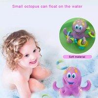 ABS 부드러운 플라스틱 플로팅 낙지 목욕 장난감 아기 놀이 물 반지 카운트 게임 욕조 수영장 수영장 교육 장난감 아이들을위한 아이들