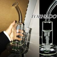 10,6 polegadas Altura Clear Tornado Função RECYLER Água de vidro Bong Dab Rigs Vidro Bodbler Buck Bong Fumar Hooakhs 18.8 mm Banger