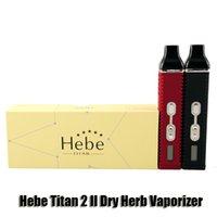 HEBE TITAN 2 II KIT SUIL HERB VAPORIZER 2200 мАч Управляйте температурой аккумулятора Травяные испарители Vape Pen