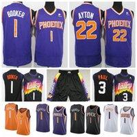 Devin 1 Booker Jersey Deandre 22 Ayton Chris 3 Paul Jerseys Retro Steve 13 Nash Charles 34 Barkley Baloncesto Shorts Mens Purple Naranja